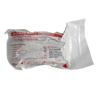 "4"" Single Pad Emergency Bandage"